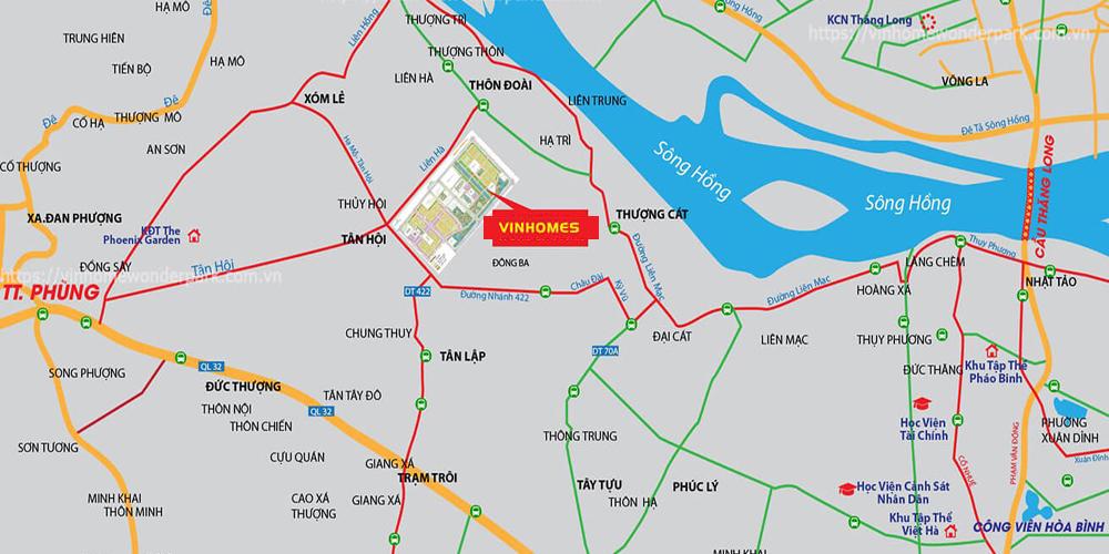 Địa chỉ biệt thự vinhomes Đan Phượng